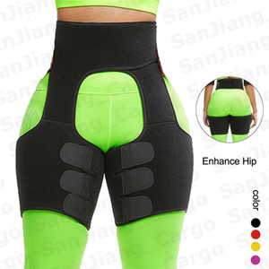 Neoprene Body High Waist Leg Shaper Women Men Shapewear Fitness Trainer Bodysuit Slimming Shorts Sweat Sports Slim Waist Bands E31207
