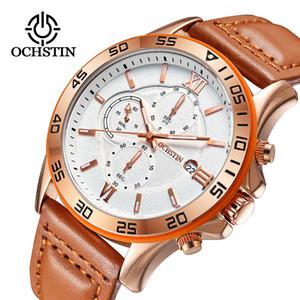 2018 OCHSTIN Business-Mann-Uhr-Spitzenmarken-Luxus Famous Mens-Quarz-Uhr-Handgelenk-Mann-Uhr-Taktgeber Stunden Relogio Masculino