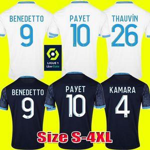S-4XL 2020 2021 Olympique de Marseille BENEDETTO Maillot de football PAYET 20 21 OM loin Troisième Marseille Maillot de football THAUVIN Maillot de Foot