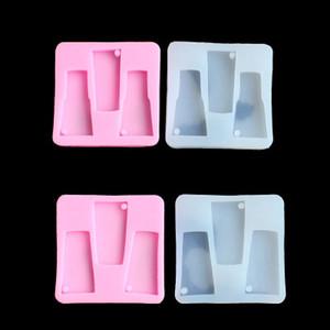 DIY Tumbler Moldes de silicona Tumbler Resina Moldes de silicona Molde de llavero de vidrio de agua Artesanías Herramientas Moldes para yeso