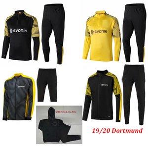 Eğitim Ceket futbol kaput ceket fermuar Yeni BVB Borussia Dortmund Futbol Tam Seti 19 20 Götze REUS Witsel ceket Isınma takım Parçalar