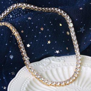 Micro-inlaid zircon hip-hop jewelry necklace tennis chain