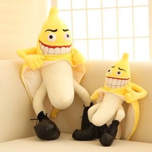 1 UNIDS Evil Bad Banana Man Relleno de Peluche de Juguete Divertido Estilo Diablo Juguetes de Novedad para Regalos de Boda Juguetes de San Valentín