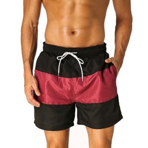 Mens Beach pantaloni allentati impermeabile e traspirante Pantaloncini Sport Etero 4 colori casuali Mare vacanze Pantaloncini Maschio Abbigliamento