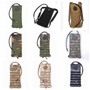 La vejiga del agua bolsa de nylon al aire libre camping camuflaje agua de la vejiga bolsa de 3 l de agua de gran tamaño Mochila Otros Recipientes WY415Q