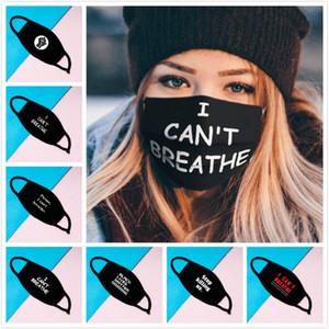 I Cant Breathe маски Washable Хлопок Маска Черных Lives Matter Маска Модельер маска для взрослых пылезащитных и ветрозащитных масок