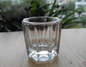 Crystal Glass Dappen Dish / Tampa Tigela Chávena de vidro cristal unhas Dish Arte Ferramentas Acrílico unhas Arte Equipamento Mini bacia Cups # 26588