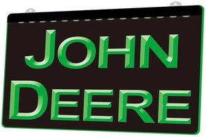 LD1187 (g) Accedi John Deere della luce al neon decorazione Dropshipping di spedizione libero all'ingrosso 8 colori tra cui scegliere