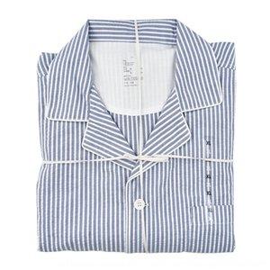 Pur71 Japanese-style Home clothes cloth trousers cotton cloth bubble gauze home clothes unprinted original cotton bubble gauze_thin stripe u