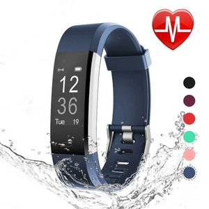 Pulsera inteligente Fitbit, reloj rastreador de actividad con monitor de ritmo cardíaco, banda de gimnasio inteligente a prueba de agua con contador de pasos, contador de calorías