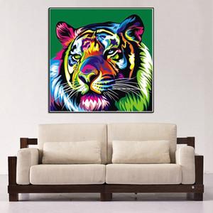 50 * 70 cm Yeni Ücretsiz kargo Ev Dekorasyon Boyama 17 Desen Renkli Hayvanlar Soyut Elmas DIY Boyama Nakış Ev dekor Zanaat