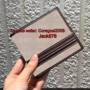blue canvas genuine Leather bi-fold wallet with Web 138086 408832 408827 italy designer small Bifold Billfold mens short PURSE