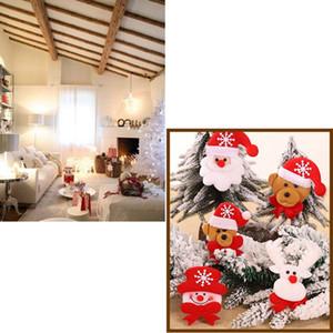 Christmas Fabric Doll Pendant Santa Snowman Elk Bear Christmas Tree Widget Christmas Decorations Eight Patterns Random Delivery