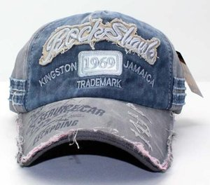 2020010844 1969 Large Embroidery Washed Man Women Baseball Cap 100% Cotton Visor Hat