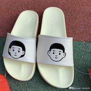 2019 Fashion Luxury off Designer flip flops brand shoes for mens platform sandals white slippers slides New Arrival Men loafers