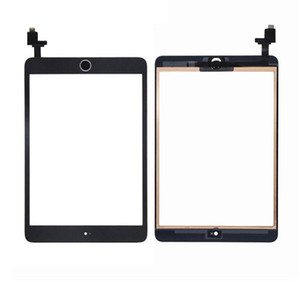 For iPad mini iPad mini 2 Touch Screen Panel Digitizer With IC home button And adhesive replacement Free Shipping DHL