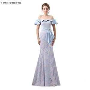 Forevergracedress sexy fuori dalla spalla Prom Dresses 2019 nuovo della sirena del merletto di arrivo formale abiti del partito Plus Size Custom Made