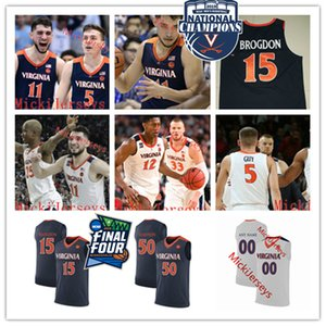 Coutume Virginia Cavaliers de basket-ball Jersey Jeff Wilkinson Lampe Buzzy Malcolm Brogdon Bryant Stith Ralph Sampson Virginie Jersey Cavaliers