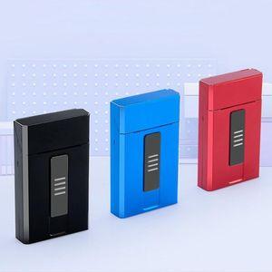 El más nuevo abre automáticamente la caja de cigarrillos colorida USB Más liviana Cubierta de la carcasa Almacenamiento Caja de un cuerpo Diseño exclusivo portátil de alta calidad DHL