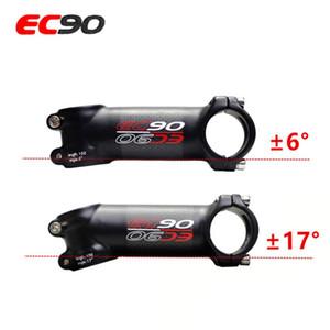 EC90 Aluminium + Kohlefaser Riser Stab Kohlefaser Fahrradultraleichten Stem Carbon Griff 28.6-31.8MM 6degree 17 Grad Stem