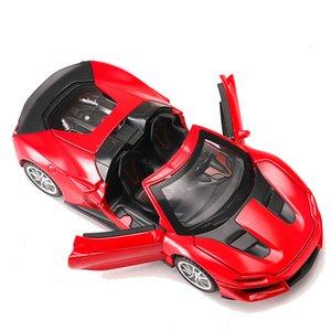 Vente chaude 1:32 Alliage Modèle De Voiture Moulé Sous Pression Sonore Lumière Tirez Porte Jouet pour Enfants Jouet Chaud Voiture Voiture Hot-Wheel Jouet