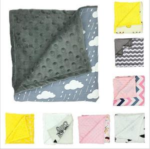Детские одеяла Minky Bubble Dot Одеяло Цветочные печати Пеленание новорожденных Полосатый Wrap Infant Parisarc Sleepsacks Постельные принадлежности для купания Полотенца C6087