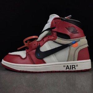 Off Whìtè Nikè Air Jòrdàn 1 Luxury ÀJ1 Designer Hommes Basketball Parra Retro 85 Ceeze Slipper Chicago Brown White Red Sneakers Men Shoes