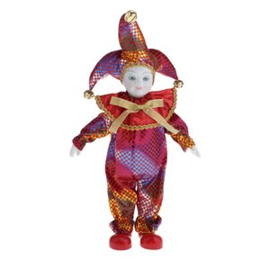 39cm Lovely Pocerlain Triangel Dolls - Clown Figurines and Statues - For Collection Display Home Desk Ornaments