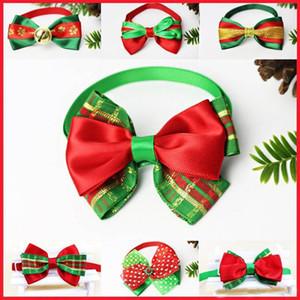 Collar Series Natal Cat Dog Pet Bow Tie alça ajustável Neck Cat Dog Knot Collar Grooming Acessórios Pet filhote de cachorro Produtos Suprimentos FA3247