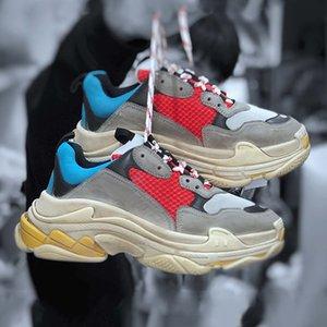 مصمم فاخر 17FW ثلاثية S النساء الرجال عارضة أحذية الإصدار المسار 3.0 تيس غوما Maille العلامة التجارية الثلاثي منصة رياضية ثلاثية ق
