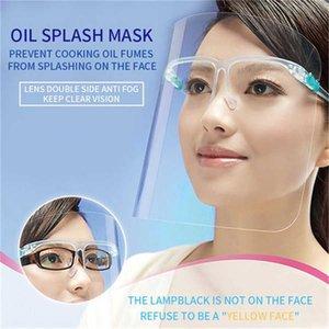 2020 beliebteste Haus halte Anti-Oil Splash Augenschutz PVC-Schild Gesichtsmaske Anti-fog Schutz wieder verwendbaren Gesichtsmaske-Küche