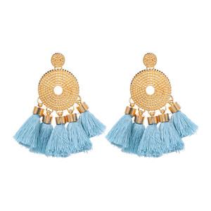 2020 Mode Bohême Exagéré Tassel Boucles d'oreilles Womens style ethnique Boucles d'oreilles pour les femmes Vintage Déclaration Bijoux fantaisie