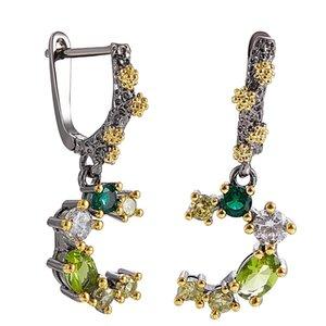 New shoot Branch Ovline Zirconia Dangle Earrings Fresh Jewellery Sweet Jewelry Drop earring Gift for Women