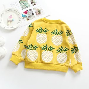 1-5 Years Knit Baby Sweater Kids Cardigan Coat Baby Girl Winter Clothes Baby Boy Winter Pineapple 100% Cotton Outerwear Cloth