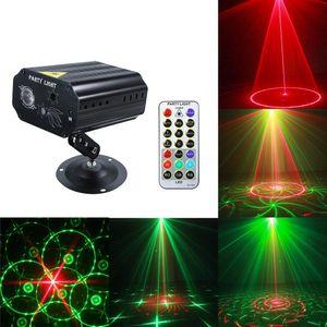 Tragbare LED-Laser-Projektor-Bühnenlicht Auto Sound Activated Effect Light Lampe für Disco DJ KTV Home Party Weihnachten