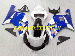 Motorcycle Fairing kit for SUZUKI GSXR600 750 K1 01 02 03 GSXR600 GSXR750 2001 2002 2003 ABS Top blue white Fairings set+Gifts SM39