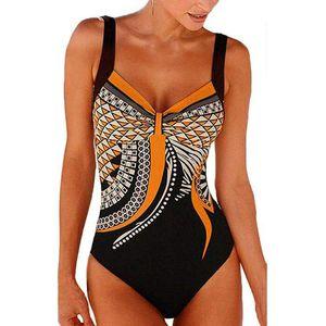 Plaj Giyim Mayo Trend S-3XL için Suit Yüzme Mayo Kadınlar One Piece Mayo Push Up Vintage Retro Yıkanma Suits