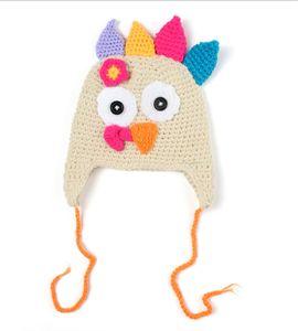 Presentes de Ação de Graças Hat bebê Outono Inverno malha Turquia Hat Caps Infante recém-nascido Bebê Turquia Hat Boy Girl Cartoon Aqueça Nova 2019
