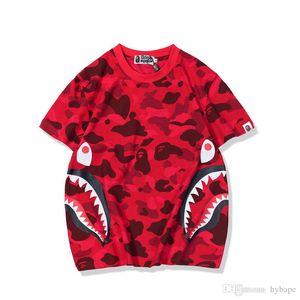 Novo Adolescente Camo Tooth Print Casual Imprimir T-Shirt dos homens Em Torno Do Pescoço Casual de Manga Curta T-Shirts Tops Tamanhos M-2XL