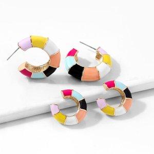 New Desigh Ear Cuff Fashion Colorful Small C-Shape No Pierced Earring Cute Clip On Earring Women Statement Earclip Party Jewelry
