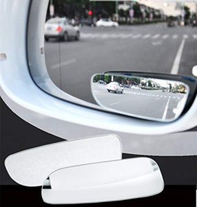 2Pcs Car Rearview Auto 360° Wide Angle Conve Blind Spot Side Rear View Wide Angle Convex Lens Mirror for Car HQ GGA141