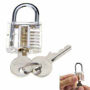 2020 Habilidad Nueva 18pcs conjunto de entrenamiento bloqueo conjunto Claro Práctica candado Herramientas cerraduras de llaves Herramientas Kits abierto rápido bloqueo de Aprendizaje