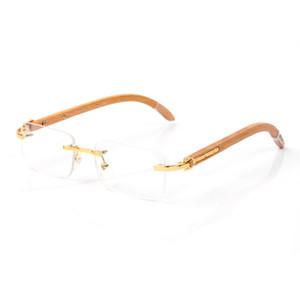 Temizle Çerçevesiz Gözlükler Çerçeveler Erkekler Moda optik çerçeveleri net gözlük yarı kare güneş gözlüğü süper Kare kare takılar mens yıldız rim