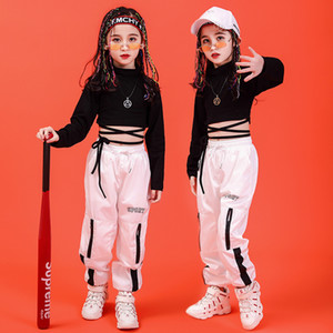 2019 new kids jazz Dance Costume for girl street dance set hip hop Clothing Stage performance suit Children's day dancewear