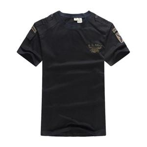 US Navy Seals Tactical maglietta Airborne vestiti Mens Army SWAT camuffamento combattimento a breve manicotto allentato Coon Tee T-shirt