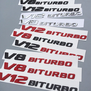 عالية الجودة رسائل 3D شعار شارة لAMG C63 E300L V8 BITURBO V12 BITURBO الحاجز جانبية سوبر تشارج توربو سيارة ملصق التصميم