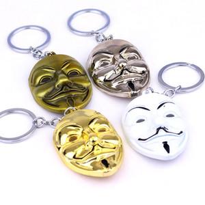 Clown V für Vendetta Keychain Anonymous GUY Maske Metall-Schlüsselring Fob für Männer Frauen Kinder Weihnachtsgeschenk
