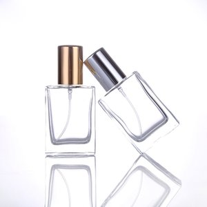 Lo nuevo perfume 30ML botella vacía de cristal portátil de recarga botellas del aerosol Con la plata del oro del atomizador para el agua Productos Cosméticos