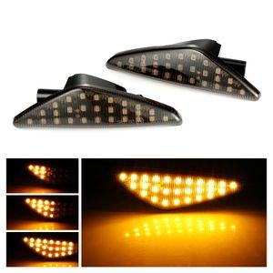 Led luz de sinalização de pisca-pisca lateral dinâmica luz do pára-choque sequencial blinker para bmw x5 e70 x6 e71 e72 x3 f25 âmbar