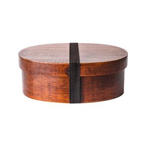 Japonais Bento Box 3 Treillis forme ovale en bois Boîtes à lunch simple couche alimentaire Conteneurs pour Bureau scolaire pique-nique 33 99pt E1